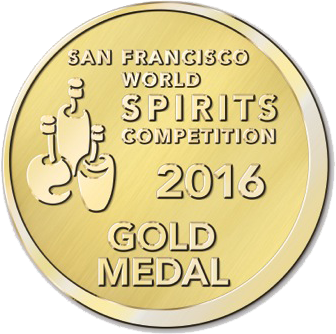San Fransisco World Spirits Competition 2016: Gold Medal