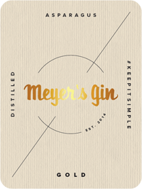 Meyer's Gin Gold - label