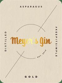 Meyer's Gin Gold - label