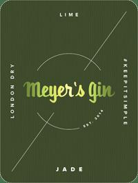 Meyer's Gin Jade - label
