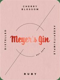 Meyer's Gin Ruby - label
